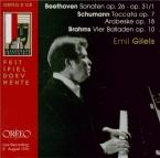 BEETHOVEN - Gilels - Sonate pour piano n°12 op.26 'Marche funèbre' live recording 9 August 1976
