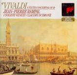 VIVALDI - Rampal - Concerto pour flûte, cordes et b.c. en sol mineur op
