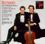 BEETHOVEN - Ax - Sonate pour violoncelle et piano n°4 op.102 n°1