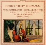 TELEMANN - Kohnen - Sonate pour un instrument et basse continue, en sol