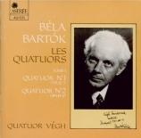BARTOK - Vegh Quartet - Quatuor à cordes n°1 op.7 Sz.40