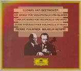 Oeuvre intégrale pour violoncelle et piano