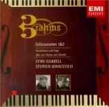 BRAHMS - Harrell - Sonate pour violoncelle et piano n°1 en mi mineur op