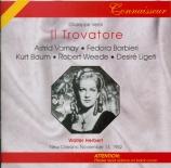 VERDI - Herbert - Il trovatore, opéra en quatre actes (version originale Live New Orleans, 13 - 11 - 1952
