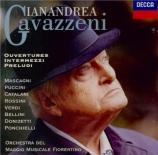 Ouvertures et préludes d'opéras italiens