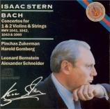 BACH - Stern - Concerto pour violon en la mineur BWV.1041