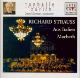 STRAUSS - Zinman - Aus Italien, fantaisie symphonique pour grand orchest