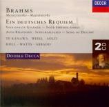 Requiem allemand - Oeuvres vocales