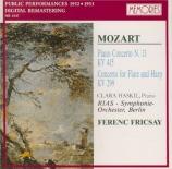 MOZART - Haskil - Concerto pour piano et orchestre n°13 en do majeur K.4