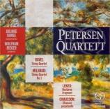 MILHAUD - Petersen Quarte - Quatuor à cordes n°1 op.5