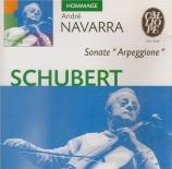 SCHUBERT - Navarra - Sonate pour piano et arpeggione (ou violoncelle) en