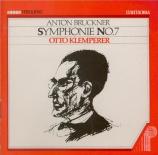 BRUCKNER - Klemperer - Symphonie n°7 en mi majeur WAB 107 Enregistrement historique à Lucerne le 3 - 09 - 1958