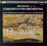 BARTOK - Ancerl - Concerto pour orchestre Sz.116 BB.123