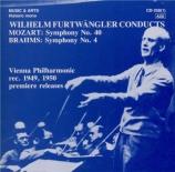 MOZART - Furtwängler - Symphonie n°40 en sol mineur K.550