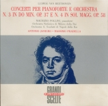 BEETHOVEN - Pollini - Concerto pour piano n°3 op.37 live Milano 1 - 2 - 1963 & 10 - 12 - 1966
