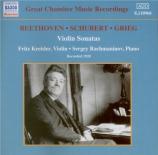 Sonates pour violon : enregistrement 1928