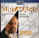 BRUCKNER - Masur - Symphonie n°1 en ut mineur WAB 101