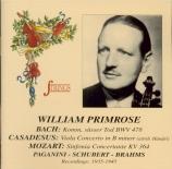 MOZART - Primrose - Sinfonia concertante pour violon, alto et orchestre