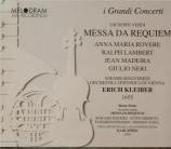 VERDI - Kleiber - Messa da requiem, pour quatre voix solo, choeur, et orc live Wien 23 - 11 - 1955