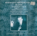 BRAHMS - Abendroth - Symphonie n°1 pour orchestre en do mineur op.68