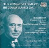 MENDELSSOHN-BAR - Weingartner - Symphonie n°3 op.56 'Écossaise'
