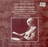 MOZART - De Sabata - Requiem pour solistes, chœur et orchestre en ré min