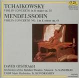 TCHAIKOVSKY - Oistrakh - Concerto pour violon en ré majeur op.35