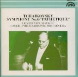 TCHAIKOVSKY - Matacic - Symphonie n°6 op.74 'Pathétique' import japonais