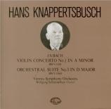 BACH - Knappertsbusch - Concerto pour violon et clavecin BWV 1041 import Japon