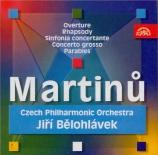 MARTINU - Belohlavek - Rhapsodie pour grand orchestre H.171