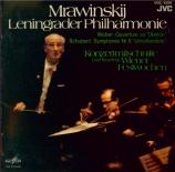 SCHUBERT - Mravinsky - Symphonie n°8 en si mineur D.759 'Inachevée' Import Japon