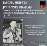 BRAHMS - Heifetz - Concerto pour violon et orchestre en ré majeur op.77