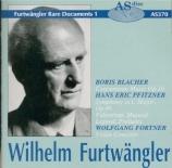 BLACHER - Furtwängler - Concertante Musik op.10