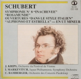 SCHUBERT - Krips - Symphonie n°8 en si mineur D.759 'Inachevée'