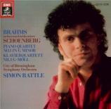 SCHOENBERG - Rattle - Orchestration du 'Quatuor avec piano n°1' de Brahm import Japon
