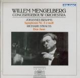 BRAHMS - Mengelberg - Symphonie n°4 pour orchestre en mi mineur op.98