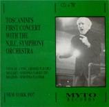 BRAHMS - Toscanini - Symphonie n°1 pour orchestre en do mineur op.68 live New York 25 - 12 - 1934