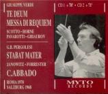 VERDI - Abbado - Messa da requiem, pour quatre voix solo, chœur, et orch Live 10 - 10 - 1970 et 06 - 08 - 1968