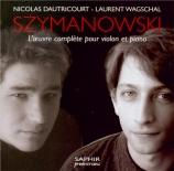 SZYMANOWSKI - Dautricourt - Mythes, pour violon et piano op.30