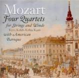 MOZART - American Baroqu - Quatuor pour hautbois et cordes en fa majeur