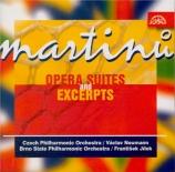 MARTINU - Neumann - Juliette ou La clef des songes, suite pour orchestre