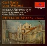 WEBER - Moss - Sonate pour piano n°2 op.39