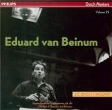BACH - Van Beinum - Sinfonias (Dutch Masters vol.29) Dutch Masters vol.29