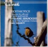 CHOSTAKOVITCH - Spanoghe - Concerto pour violoncelle n°1 op.107