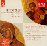 PENDERECKI - Penderecki - Symphonie n°2