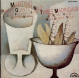 MARTINU - Palenicek - Quintette pour piano et cordes n°2 H.298 import Japon