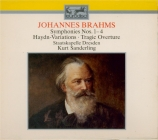 BRAHMS - Sanderling - Symphonies (intégrale)