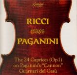 PAGANINI - Ricci - Vingt-quatre caprices pour violon op.1 MS.25 Paganini 'cannon' Guarneri del Gesu of 1742