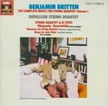 BRITTEN - Endellion Quart - Rhapsodie pour quatuor à cordes