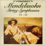 MENDELSSOHN-BAR - Masur - Symphonie à cordes n°11 S1 n°11